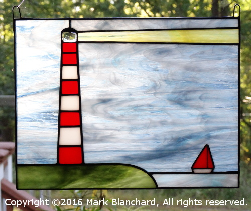 Assateague Lighthouse Stained Glass Panel