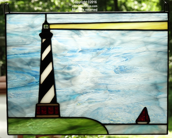 West Quoddy Head Lighthouse Stained Glass